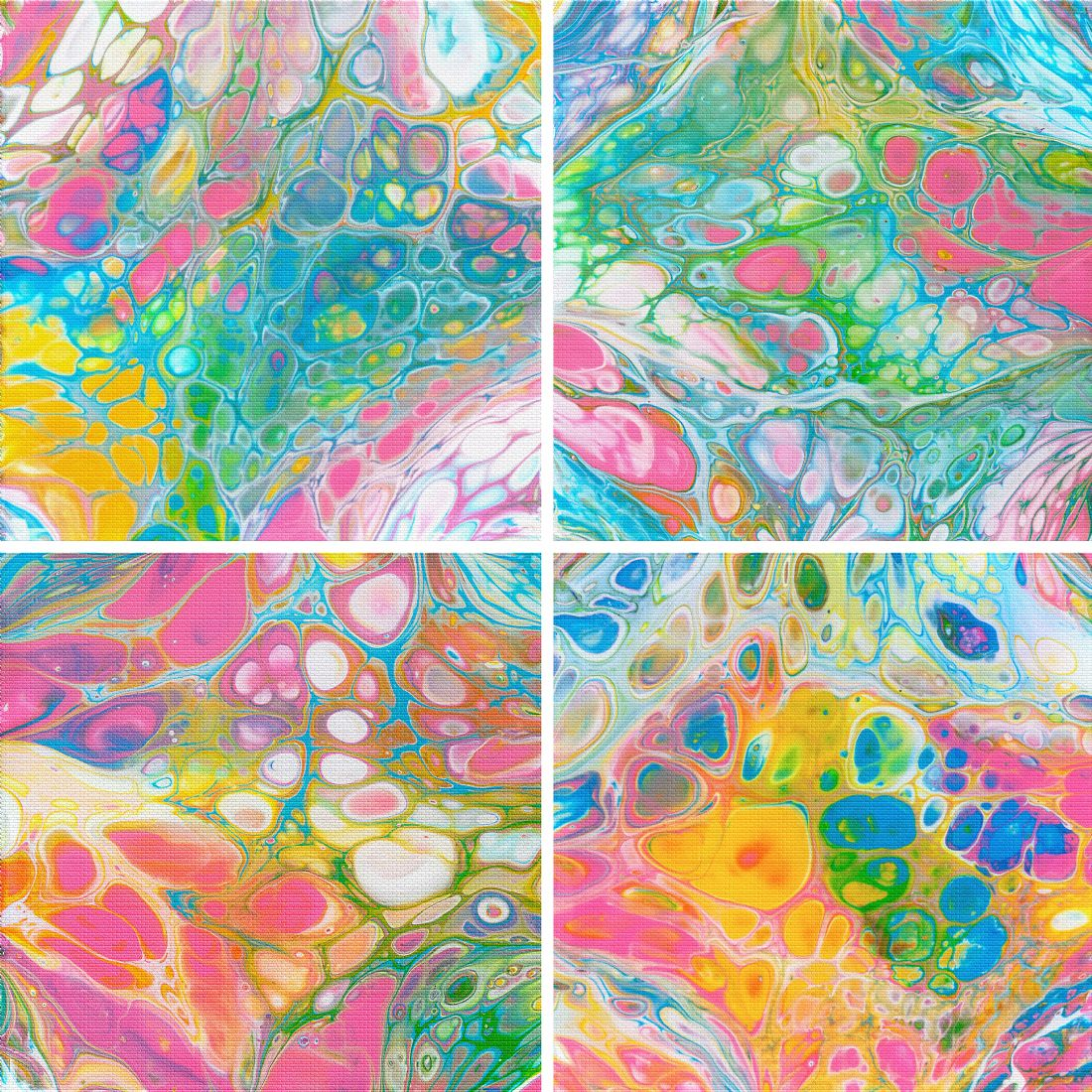 Kaye Menner | Pouring Paints Collage
