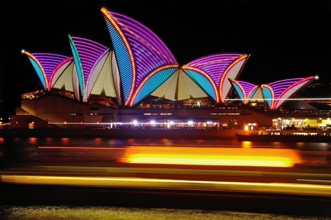 Kaye Menner | Vivid Sydney - Opera House Patterns and Stripes