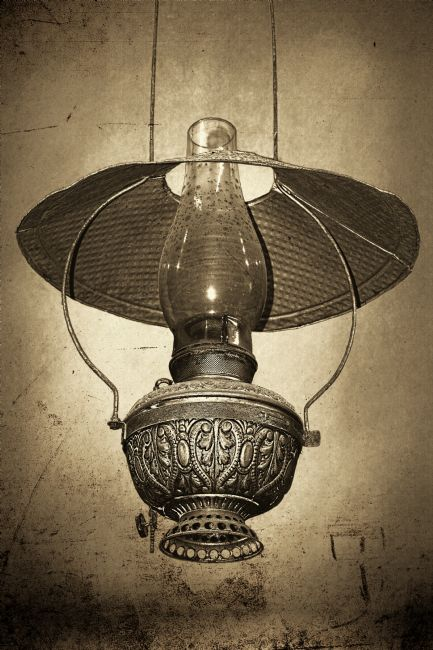 Kaye Menner | Antique Oil Lantern