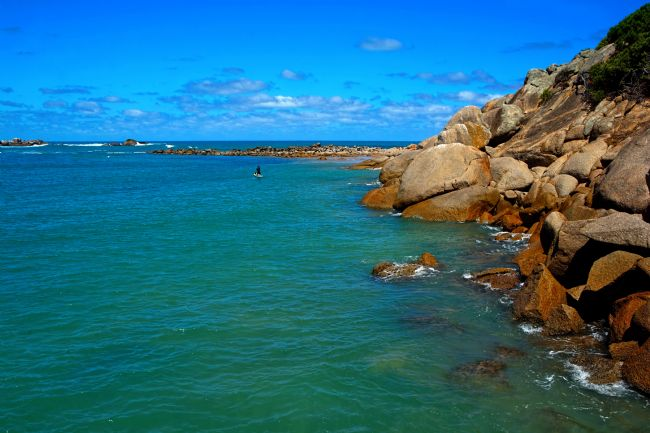 Kaye Menner | Rocks and Water, Horseshoe Bay, Port Elliot, South Australia