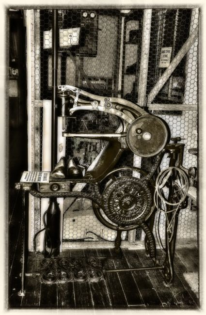 Kaye Menner | Bootmakers Antique Treadle Machine