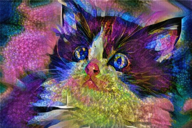 Kaye Menner | Colorful Kitten Art 2