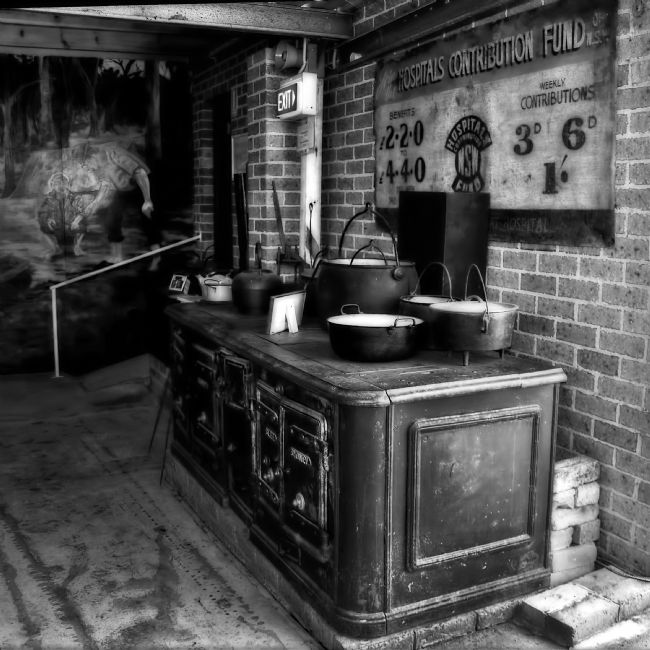 Kaye Menner | Old Iron Oven / Stove Black and White