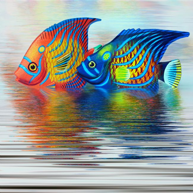 Kaye Menner | Tropical Fish Reflecting