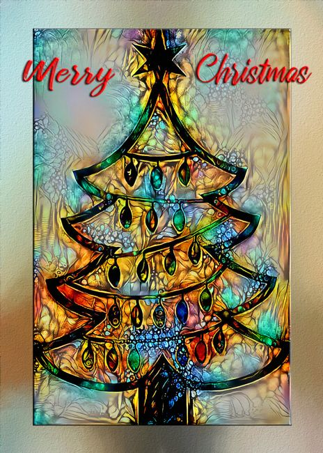 Kaye Menner | Abstract Christmas Wishes