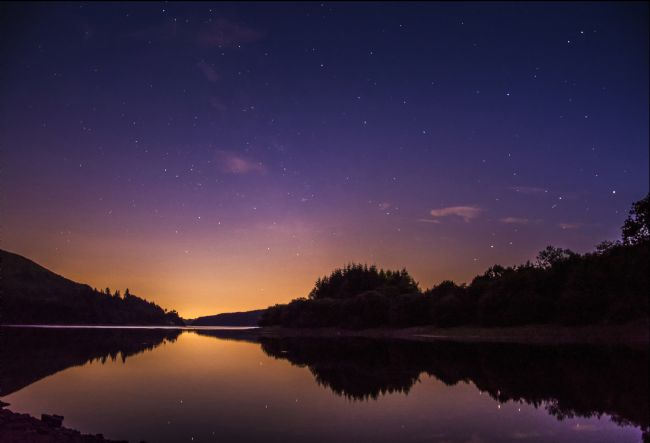 Glenn Porter | A starry evening at Pontsticill Reservoir.