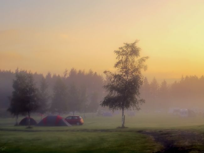 Susan Tinsley | Sunrise over tents