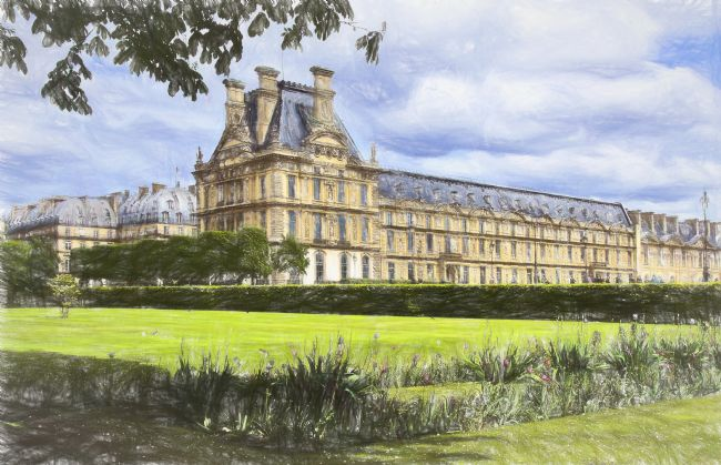 Ian Lewis | Lovre Palace From The Tuileries