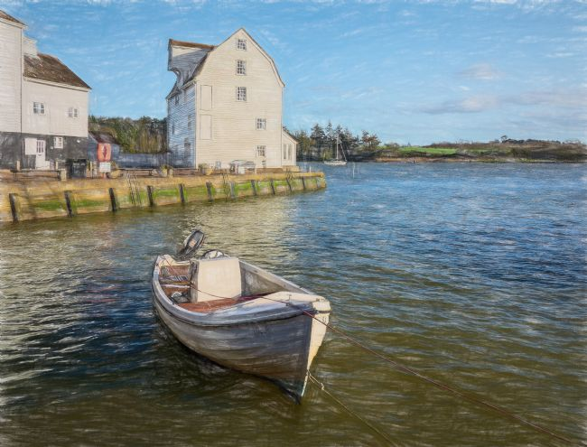 Ian Lewis | The Tide Mill At Woodbridge Digital Art