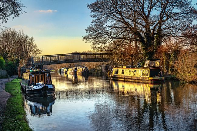 Ian Lewis | Moored At Monkey Bridge Newbury