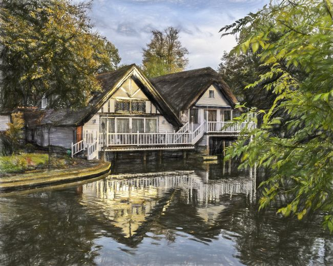 Ian Lewis | Picturesque Thames Boathouses At Goring