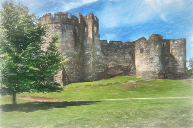 Ian Lewis | Chepstow Castle Towers Digital Art