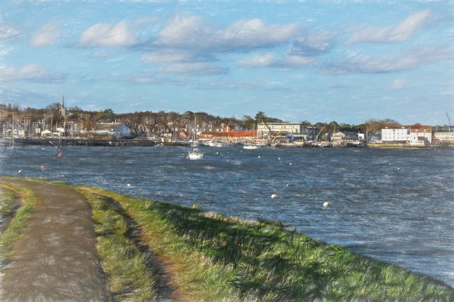 Ian Lewis | Footpath To Woodbridge Digital  Art