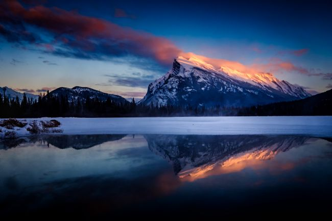 Peter O'Reilly | Last Light on Mount Rundle