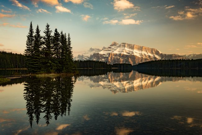 Peter O'Reilly | Two Jack Lake & Mount Rundle