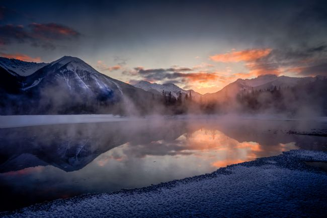 Peter O'Reilly | Sunset, Vermilion Lakes