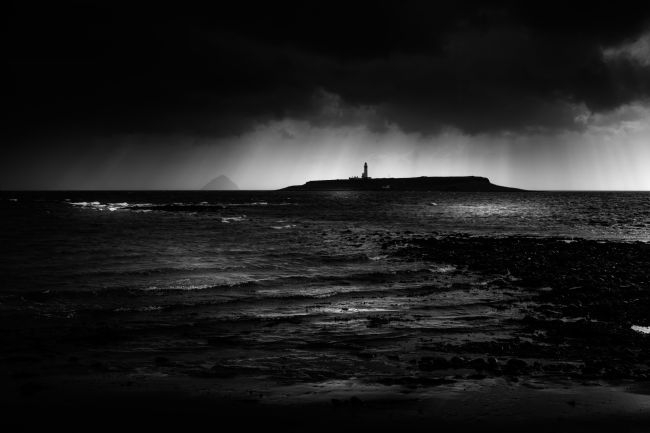 Peter O'Reilly | Approaching Storm, Ailsa Craig and Pladda Island