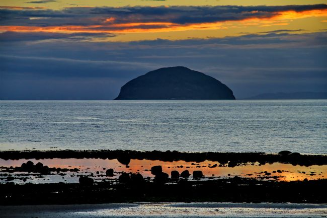 Robert Washington | Sunset at Ailsa Craig