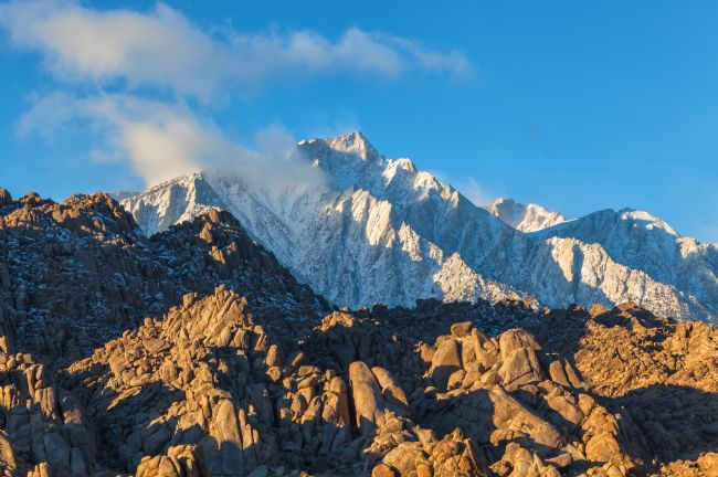 jonathan nguyen | Snow on Lone Pine Peak