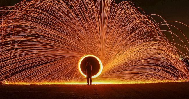 tammy mellor | light painting/wire wool spinning