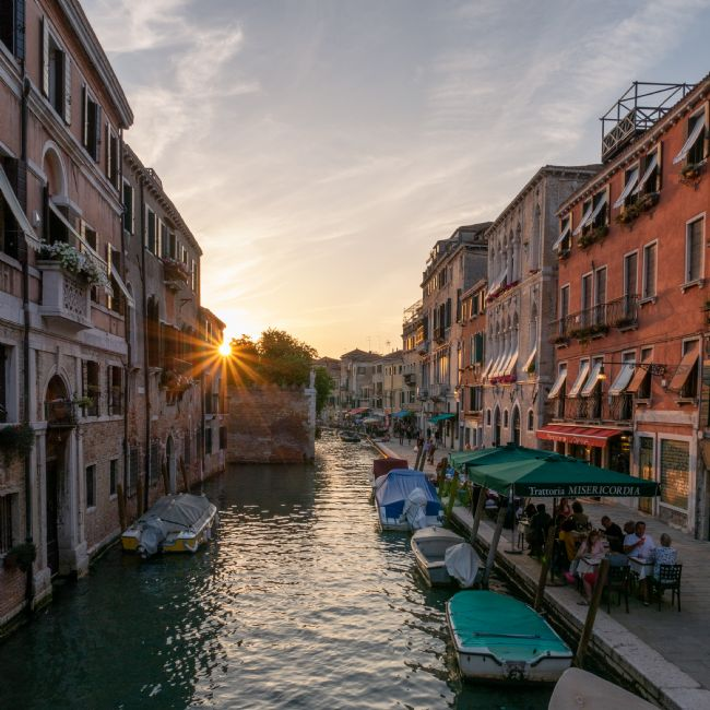 Jon Rendle | Venice Street at Sunset