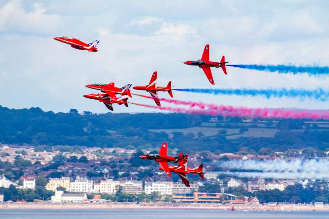 Ken Brannen |  Red Arrows Break at Dawlish
