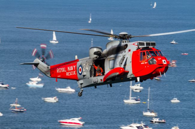 Ken Brannen |  Royal Navy Sea King at Dawlish