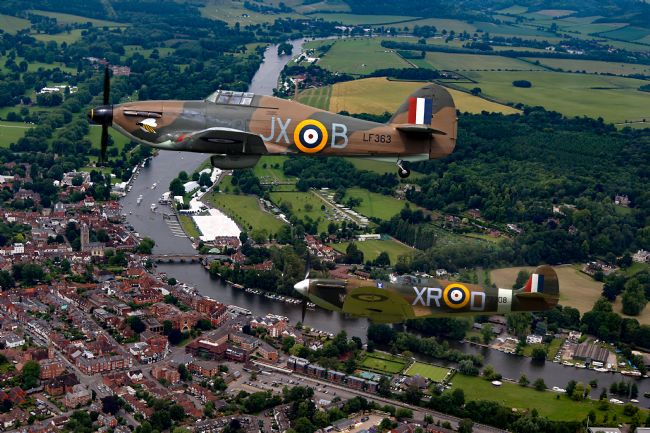 Ken Brannen | Spitfire and Hurricane over Henley
