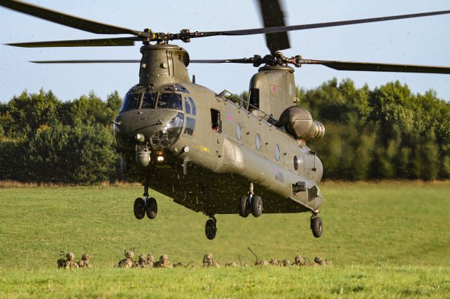 Ken Brannen | Chinook sortie on Salisbury Plain