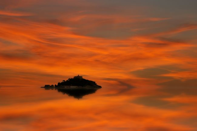 Ken Brannen | St Michaels Mount reflected