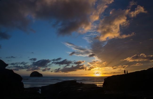 Pete Hemington | Watching the sunset at Trebarwith Strand