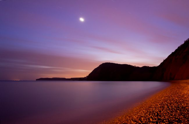 Peter Hemington | Venus over Sidmouth beach