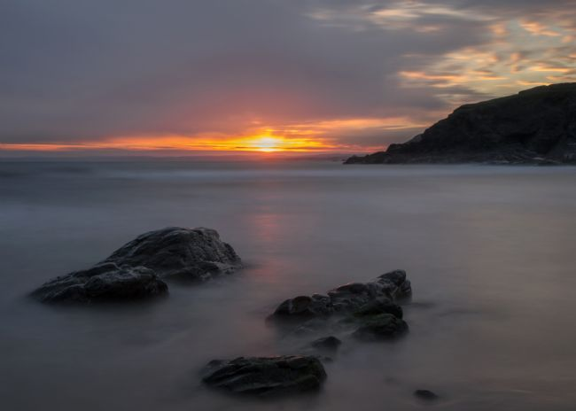 Peter Hemington | Sunset at Poldhu Cove