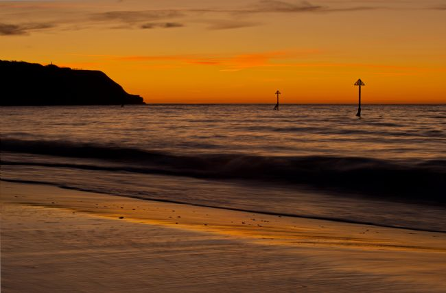 Peter Hemington | Sunrise Towards Orcombe Point at Exmouth
