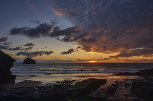 Pete Hemington | Sunset at Trebarwith Strand
