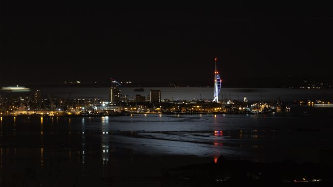 David Sharp | Portsmouth by Moon Light