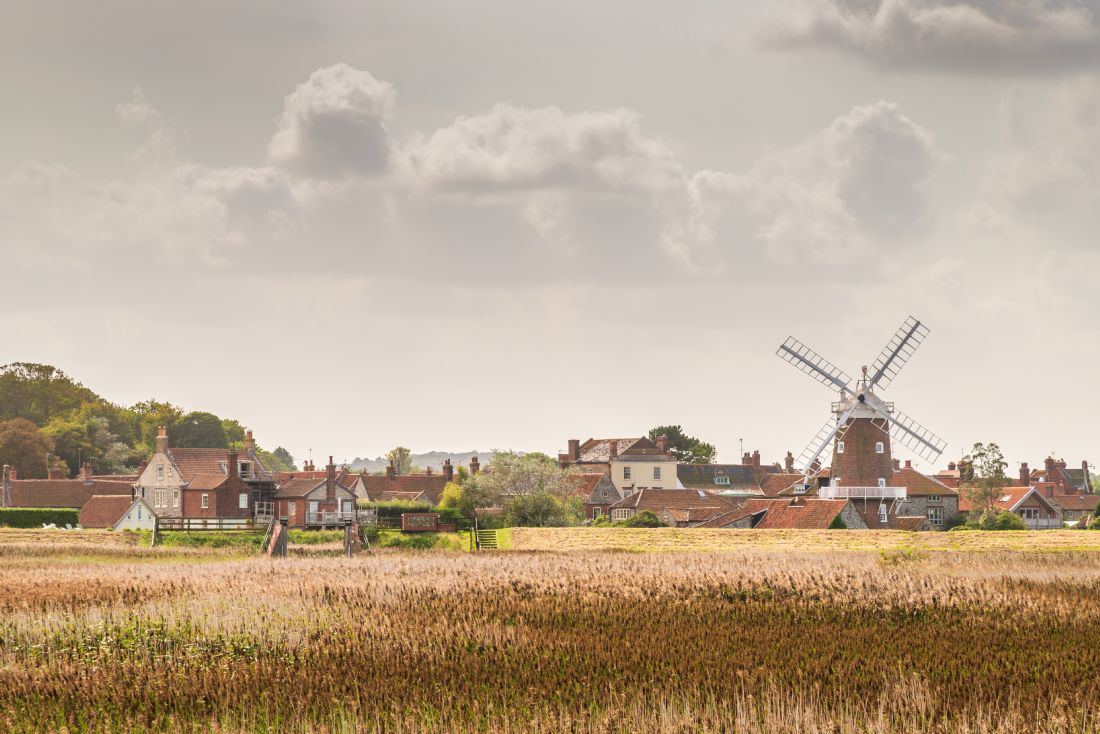 Stephen Mole | Across the salt marsh to Cley Windmill