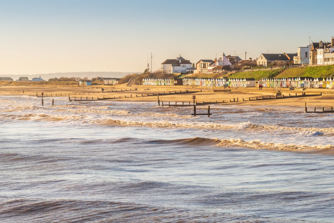 Stephen Mole | Rows of Beach Huts at Southwold
