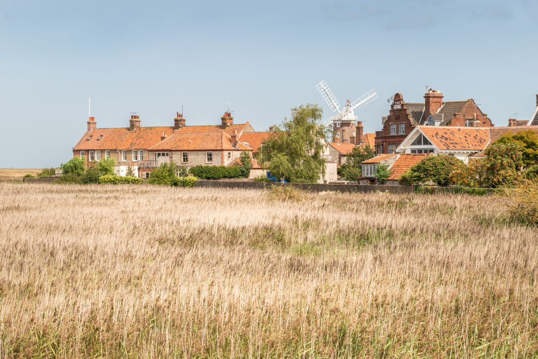 Stephen Mole | Houses and windmill at Cley