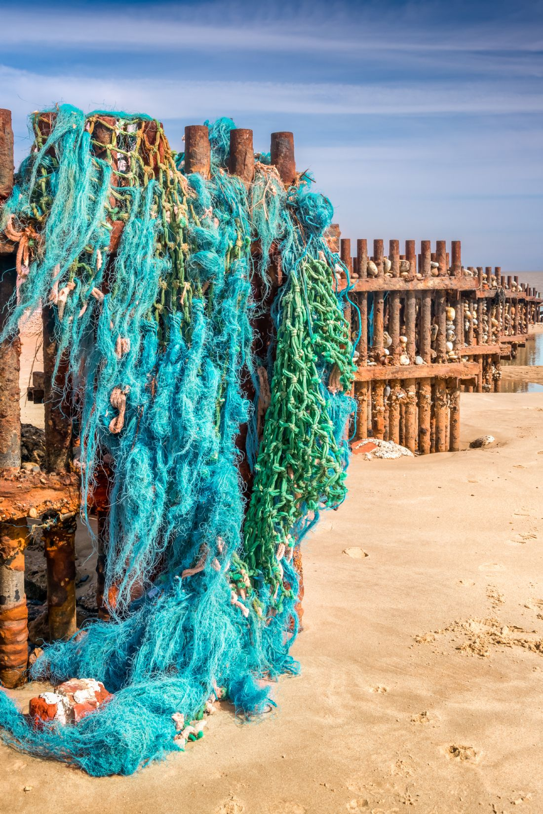 Stephen Mole | Fishing nets at Caister