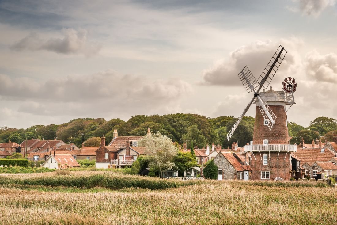 Stephen Mole | Across the marsh to Cley Windmill