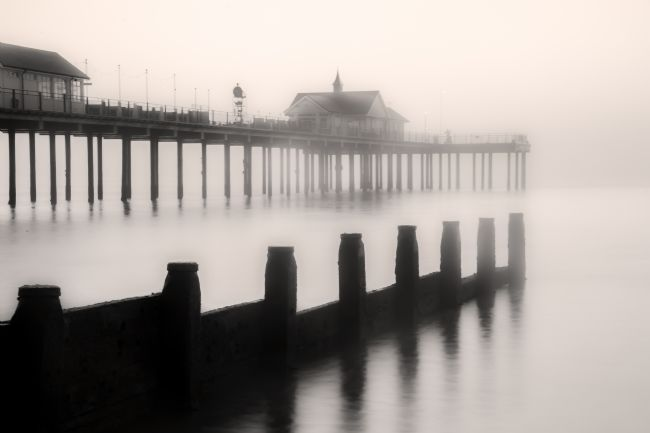 Stephen Mole | Southwold Pier in the  mist