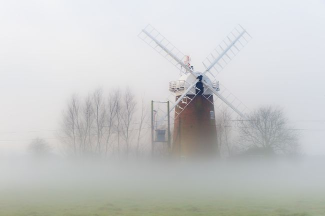 Stephen Mole | Horsey Mill in the mist