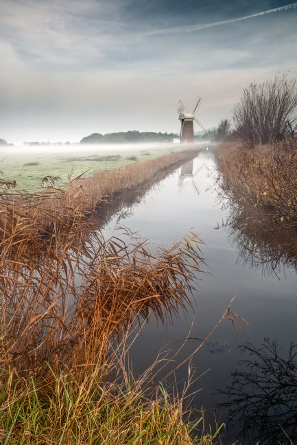 Stephen Mole | Horsey Mill, misty