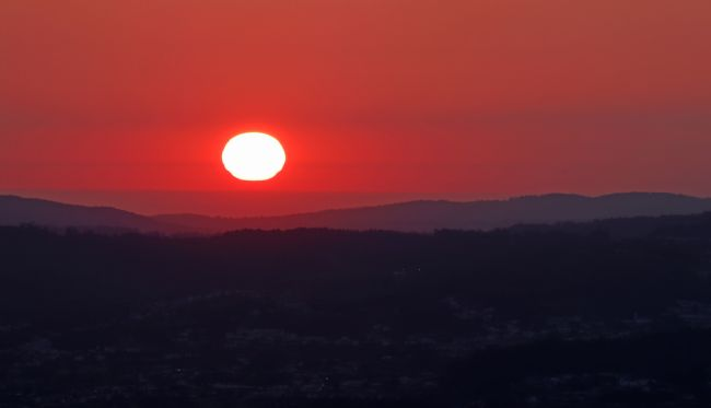 Roz Collins | Sunset Over Guimaraes