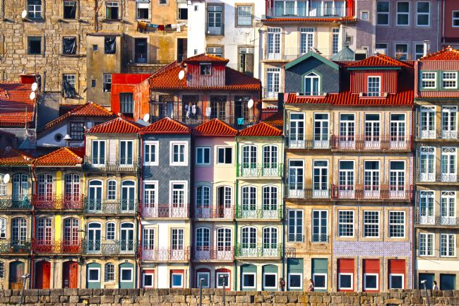 Roz Collins | Houses Along the Douro River, Porto