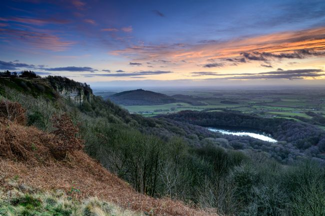 Richard Burdon | Winter Sunset, Sutton Bank