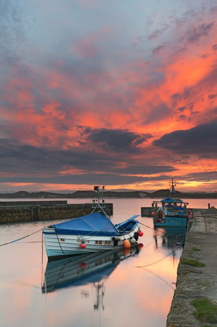Richard Burdon |  Beadnell Harbour Sunset