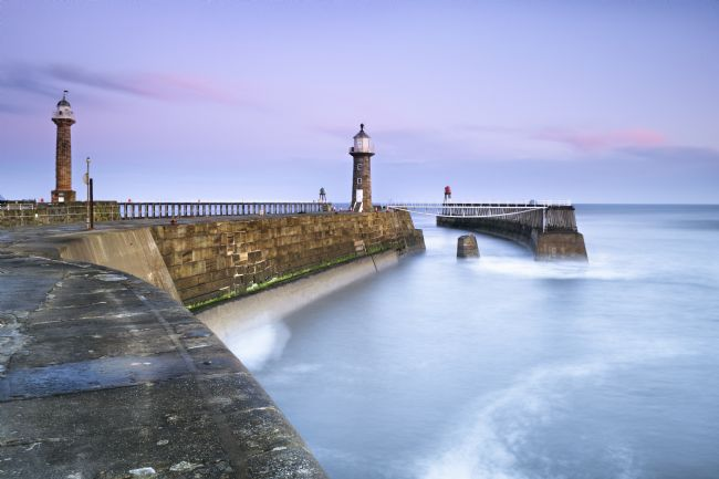 Richard Burdon | Sunrise Over Whitby East Pier
