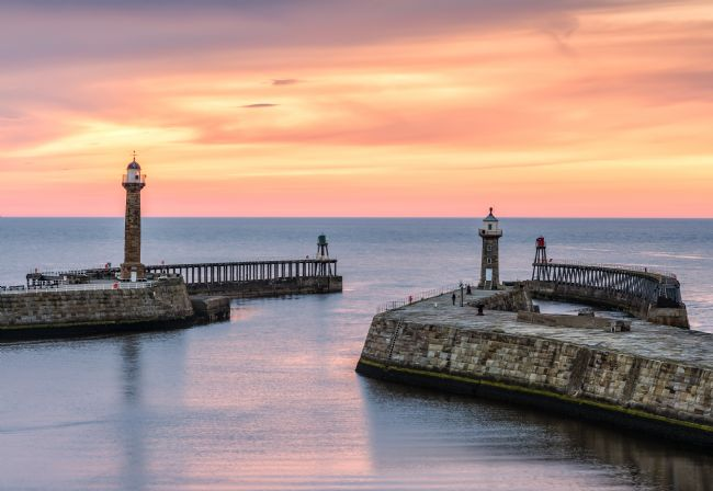 Richard Burdon | Whitby pier at sunset